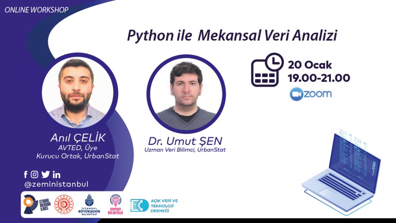 Python İle Mekânsal Veri Analizi Eğitimine Davet